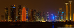 Qatar skyline at nig